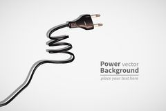 Power cord Stock Photo