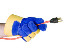 Power cord isolated with path Royalty Free Stock Image