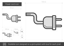 Power cord line icon. Royalty Free Stock Photography