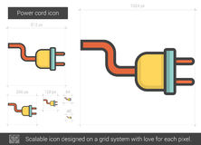 Power cord line icon. Stock Image