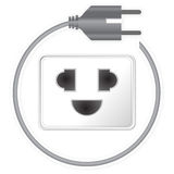 Power cord plug Stock Photo