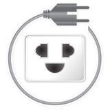 Power Cord Plug Stock Photo