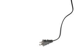 Power cord on white Stock Photo