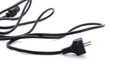 Power cord on white background Stock Photo