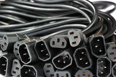 Power cords and couplers. For general purpose household appliances, standard IEC 60320 stock photography