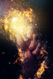 Power of creative energy Stock Images