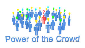 Power of the Crowd. 3d render for crowdsourcing concept Royalty Free Stock Images