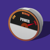 Power dial Stock Photography