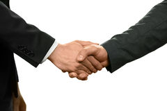 The power of diplomacy. Two officials shake hands. The power of diplomacy. Negotiate and recruit. Common goals royalty free stock photography