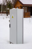 Power distribution locker in snow Royalty Free Stock Images