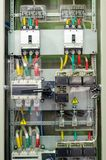 Power Distribution Panels. Close-up Of Power Distribution Panels royalty free stock photos