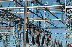 Power distribution site. Image of a power distribution site Royalty Free Stock Images