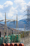 Power distribution substation Stock Image