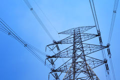 Power distribution tower Royalty Free Stock Images