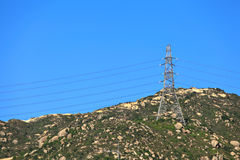 Power distribution tower Royalty Free Stock Photography