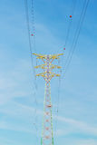 Power distribution tower cable Royalty Free Stock Photography