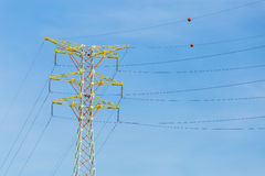 Power distribution tower cable Stock Photography