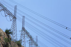 Power distribution tower Stock Photo