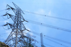 Power distribution tower Royalty Free Stock Photo