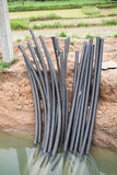 Power distribution under ground cable system Royalty Free Stock Photography