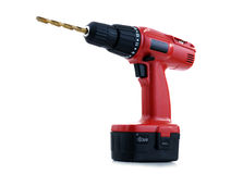 Power Drill. Over a white background Royalty Free Stock Photo
