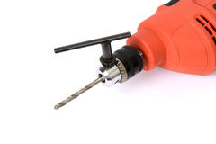Power drill with accessories Royalty Free Stock Image