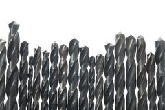 Power drill bits in a row Stock Image