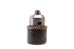 Power drill head over white background Royalty Free Stock Image
