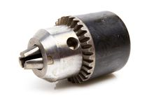 Power drill head over white background Stock Photography