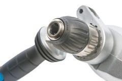Power drill input fixing hole Royalty Free Stock Photo