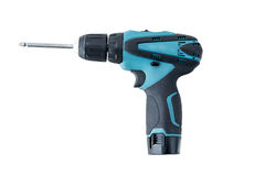 Power drill isolated on white background Royalty Free Stock Images