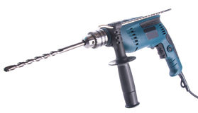 Power drill. power drill on the background Royalty Free Stock Image