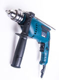 Power drill. power drill on the background Royalty Free Stock Images