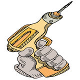 Power Drill Tool Stock Photography