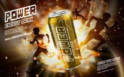 Power drink golden Stock Image