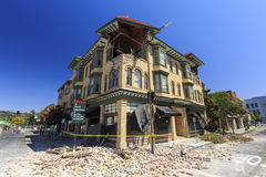 The power of earthquake, Napa Valley Royalty Free Stock Images