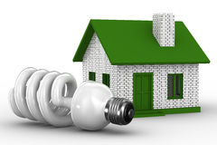 Power efficiency of house. Isolated 3D image Royalty Free Stock Images