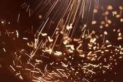 Power electric spark. Very high power electrical spark Royalty Free Stock Image