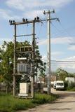 Power electric transformer stock photo