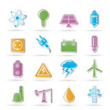 Power and electricity industry icons Royalty Free Stock Images