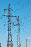 Power energy. On a background blue sky Royalty Free Stock Image