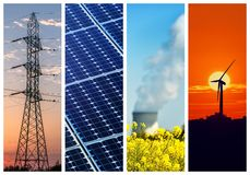 Power and energy concepts Stock Images