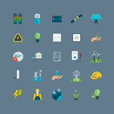 Power energy, eco friendly icons Royalty Free Stock Image