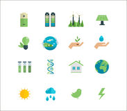 Power energy, eco friendly icons Royalty Free Stock Photo