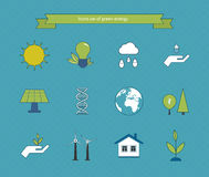 Power energy, eco friendly icons Stock Image