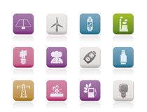 Power, energy and electricity icons vector illustration