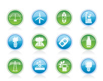 Power, energy and electricity icons Royalty Free Stock Photography
