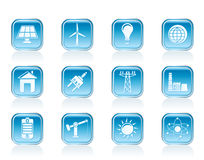 Power, energy and electricity icons. Vector icon set Royalty Free Stock Images