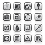 Power, energy and electricity icons. Vector icon set Stock Images