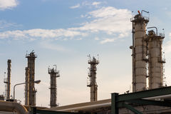 Power and energy factory. Oil refinery factory, power plant Stock Images